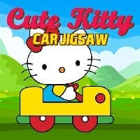 hello kitty  cute kitty car